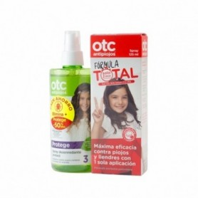 Otc Pack Antipiojos Formula Total Spray 125 Ml + Spray Desenredante 250 Ml